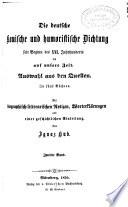 Die deutsche komische und humoristische Dichtung seit Beginn des XVI. Jahrhunderts bis auf unsere Zeit