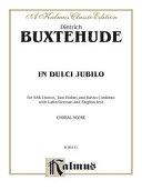 In Dulci Jubilo  Sab  German  Latin Language Edition