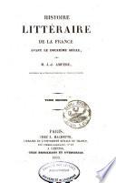 Histoire littéraire de la France avant le douzième siècle