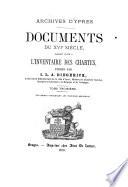 Documents du XVIe siècle