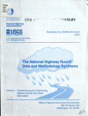 The National Highway Runoff Data And Methodology Synthesis