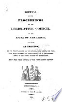 Journal of the Proceedings of the Legislative Council of the State of New Jersey