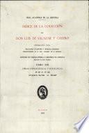 Índice de la colección de don Luis de Salazar y Castro. Tomo XIII.