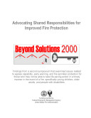 Advocating Shared Responsibilities for Improved Fire Protection; Beyond Solutions 2000