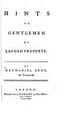 Hints to Gentlemen of Landed Property