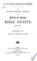 Report British And Foreign Bible Society