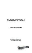 Unforgettable Book PDF
