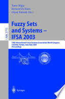 Fuzzy Sets And Systems Ifsa 2003