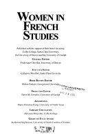 Women in French Studies