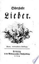 Scherzhafte Lieder Neue Verb Aufl