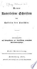 Neue auserlesene Schriften der Enkelin der Karschin