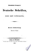 Friedrich Creuzer's Deutsche Schriften, neue und verbesserte: Zur Geschichte der griechischen und römischen Literatur