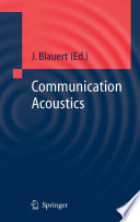 Communication Acoustics book
