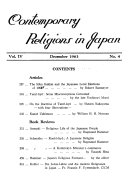 Contemporary Religions In Japan