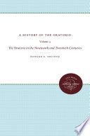A History of the Oratorio Of The Oratorio Volumes 1