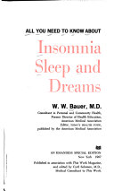 All You Need to Know about Insomnia  Sleep  and Dreams