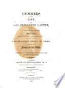 Memoirs of the Life of Mrs  Elizabeth Carter