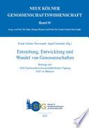 Entstehung, Entwicklung und Wandel von Genossenschaften