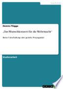 """""""Das Wunschkonzert für die Wehrmacht"""""""