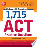 McGraw Hill Education 1 715 ACT Practice Questions