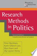 Research Methods in Politics