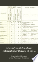 Monthly bulletin of the International Bureau of the American Republics