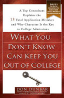 What You Don t Know Can Keep You Out of College