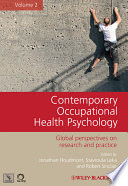 Contemporary Occupational Health Psychology