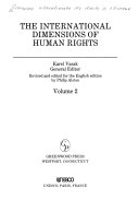 Dimensions internationales des droits de l homme