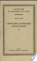Cronache letterarie anglosassoni  vol  IV