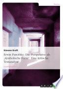 """Erwin Panofsky: Die Perspektive als """"symbolische Form"""""""