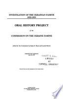 Investigation of the Ukrainian famine, 1932-1933