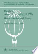 Deutscher Anaesthesiekongreß 1982 Freie Vorträge