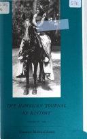 The Hawaiian Journal of History