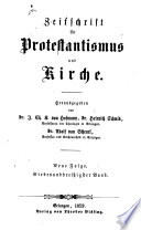 Zeitschrift für Protestantismus und Kirche