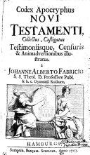 Codex apocryphus Novi Testamenti...