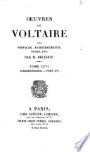 Oeuvres de Voltaire avec pr  faces  avvertissement  notes     par m  Beuchot