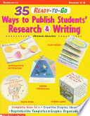 Thirty five Ready to go Ways to Publish Students  Research and Writing