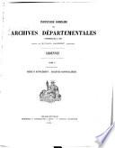 Inventaire sommaire des Archives d  partementales ant  rieures    1790