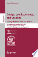 Design  User Experience  and Usability  Theory  Methods  Tools and Practice