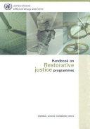 Handbook on Restorative Justice Programmes