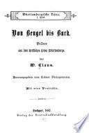 Württembergische Väter: Von Bengel bis Burk