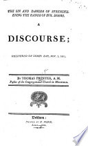 The Sin and Danger of Strengthening the Hands of Evil Doers. A Discourse [on Jer. Xxiii. 14] Delivered Nov. 3, 1805