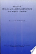 Essays on English and American Literature, and a Sheaf of Poems