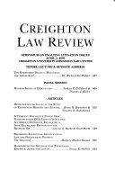 Symposium on Evolving Litigation Issues  April 3  2009  Creighton University Ahmanson Law Center Book PDF