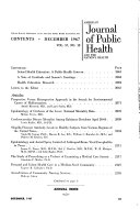 American Journal Of Public Health And The Nation S Health