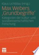 Max Webers 'Grundbegriffe'