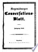 Regensburger Conversations Blatt