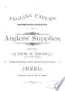 Angling Papers, Accompanying Catalogue of Anglers' Supplies