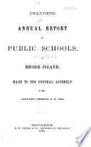 Annual Report on Public Schools in Rhode Island